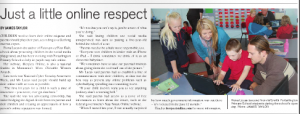 iRespectOnline and Author Fiona Lucas at Portarlington Primary School