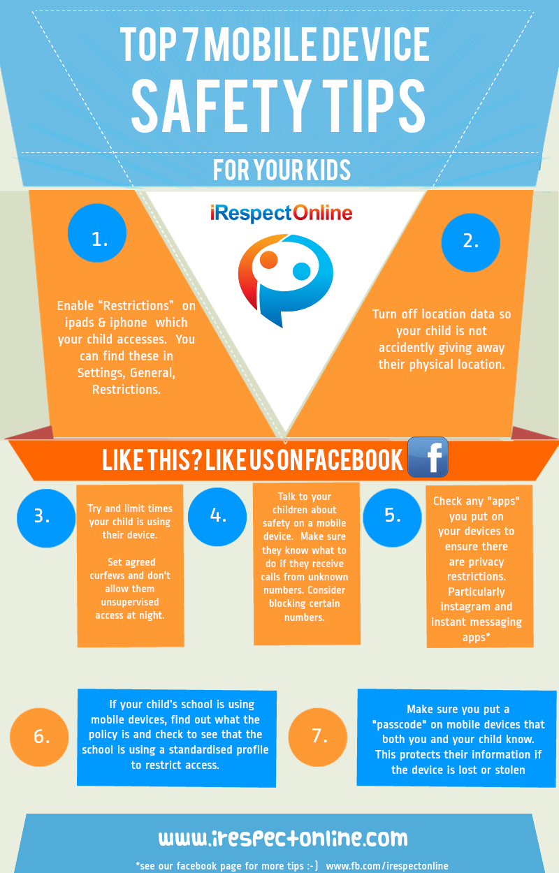 Mobile devices and your child's safety Infograph ...