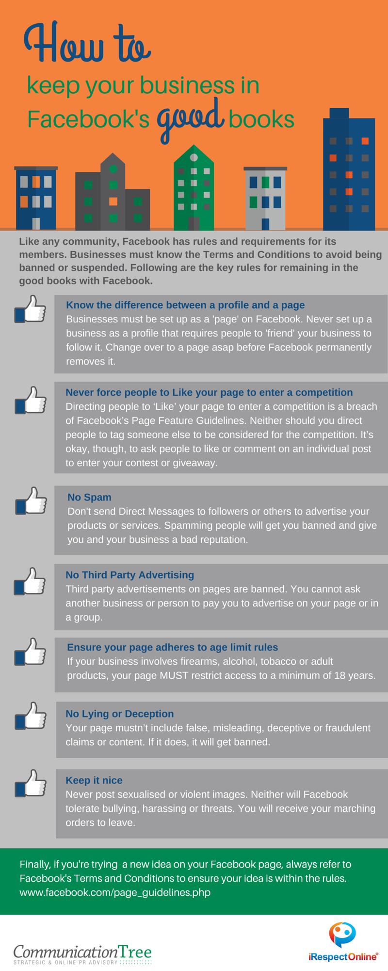 Avoiding facebook bans